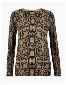 Autograph Pure Cashmere Animal Print Jumper