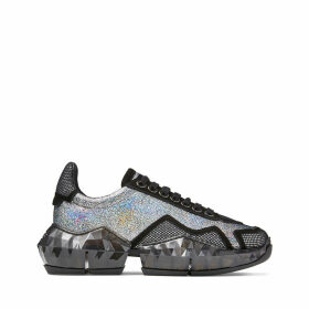 DIAMOND/F Multi Hologram Leather Low Top Trainers