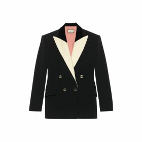 Silk wool tuxedo jacket