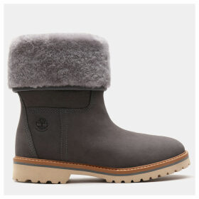 Timberland Chamonix Valley Shearling Boot For Women In Grey Grey, Size 7.5
