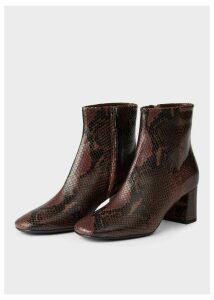 Imogen Boot Chocolate Snake 42