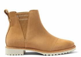 TOMS Water Resistant Desert Tan Suede Women's Cleo Boots - Size UK3.5