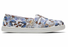 TOMS Radial Butterfly Youth Classics Slip-On Shoes - Size UK12
