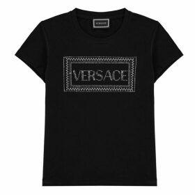 Young Versace Diamond Print T Shirt
