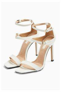 Womens Relish Double Strap Heels - White, White