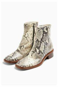 Womens Arrow Snake Flat Leather Boots - Multi, Multi