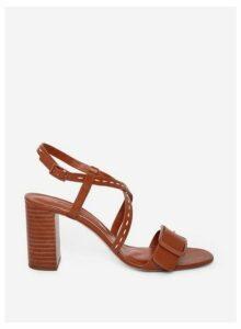 Womens Tan 'Brandi' Heeled Sandals- Brown, Brown