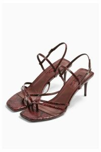Womens Nicole Burgundy Strap Sandals - Burgundy, Burgundy