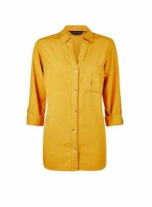 Womens Yellow Lyocell Shirt, Yellow