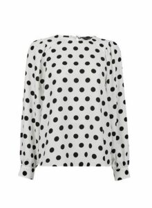 Womens Ivory Balloon Sleeve Top- Ivory, Ivory