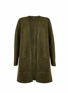 Womens Khaki Edge To Edge Cardigan- Green, Green