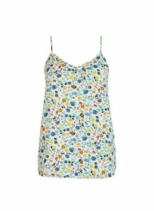 Womens **Only Multi Colour Floral Print Camisole Top- Multi Colour, Multi Colour