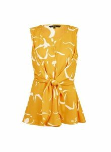 Womens **Vero Moda Yellow Printed Top, Yellow