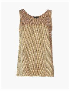 M&S Collection Geometric Print Vest Top