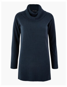 M&S Collection Cashmilon Cowl Neck Jumper