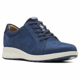Clarks  Un Adorn Lace Womens Casual Sports Shoes  women's Shoes (Trainers) in Blue