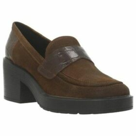 Geox  D KENLY MID A  women's Loafers / Casual Shoes in Brown