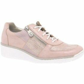 Rieker  Camilla Womens Casual Sports Shoes  women's Shoes (Trainers) in Pink