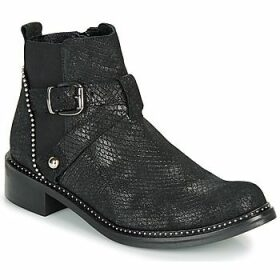 Regard  ROALA V1 CROSTE SERPENTE PRETO  women's Mid Boots in Black