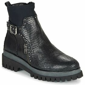Regard  RONALD V2 SERPENTE PRETO  women's Mid Boots in Black