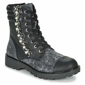 Desigual  COMBAT PEARL  women's Mid Boots in Black