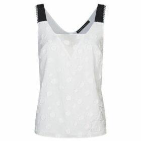 Mado Et Les Autres  Graphic tank top  women's Blouse in White