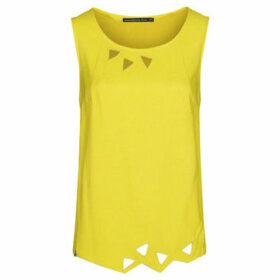 Mado Et Les Autres  Embroidered tank top  women's Blouse in Yellow