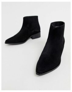 Vero Moda leather boots-Black