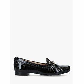 Carvela Comfort Cindy Croc Print Loafers, Black