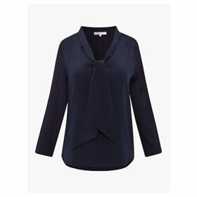 Gerard Darel Emery Tie Neck Top, Blue