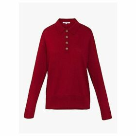 Gerard Darel Sacha Button Collar Jumper, Red