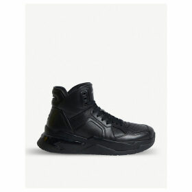 B Ball leather trainers