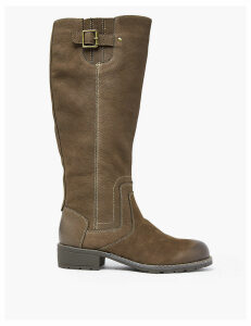M&S Collection Leather Stitch Knee High Boots