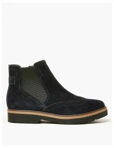 M&S Collection Suede Brogue Chelsea Ankle Boots