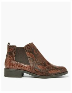 M&S Collection Animal Print Chelsea Ankle Boots