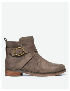 M&S Collection Cross Strap Ankle Boots