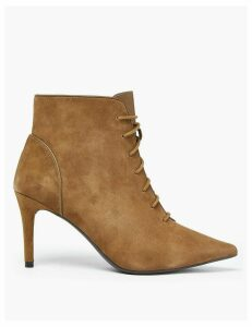 M&S Collection Suede Lace Up Stiletto Heel Ankle Boots