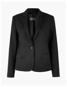 M&S Collection Wool Blend Single Breasted Blazer
