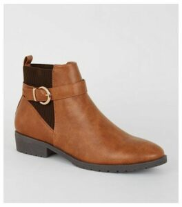 Tan Leather-Look Chelsea Boots New Look