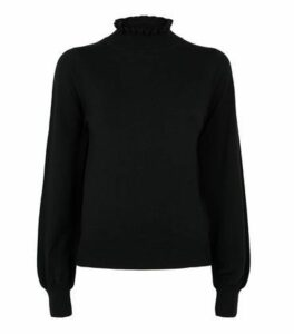 Black High Neck Long Sleeve Jumper New Look