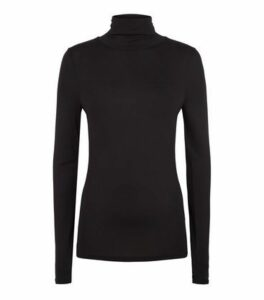 Tall Black Roll Neck Long Sleeve Top New Look