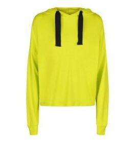 Yellow Sports Hoodie New Look
