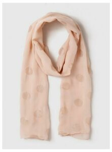 Blush Spotted Scarf, Pink