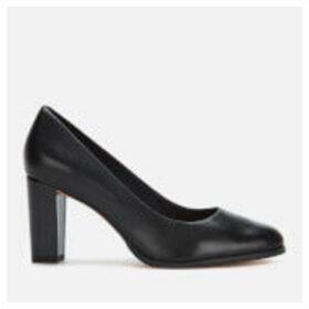 Clarks Women's Kaylin Cara Leather Court Shoes - Black - UK 8