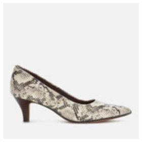 Clarks Women's Linvale Jerica Kitten Heels - Taupe Snake - UK 8