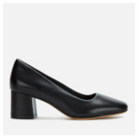 Clarks Women's Sheer Rose Leather Block Heeled Shoes - Black