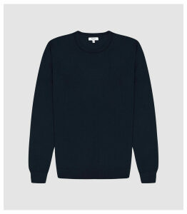 Reiss Wessex - Merino Wool Jumper in Navy, Mens, Size XXL
