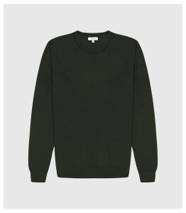 Reiss Wessex - Merino Wool Jumper in Forest Green, Mens, Size XXL
