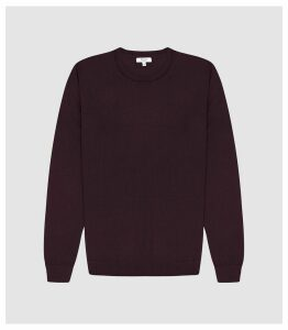 Reiss Wessex - Merino Wool Jumper in Bordeaux, Mens, Size XXL