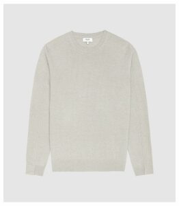 Reiss Jinks - Wool Cashmere Blend Crew Neck Jumper in Grey, Mens, Size XXL